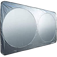 Car Windshield Sunshade Cover Sliver 160cm*85cm Folding UV Protector, Easy install and package