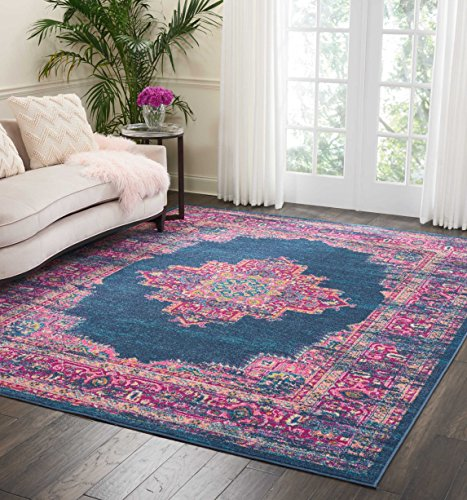 Nourison Passion Blue Contemporary Area Rug, 8' x 10',