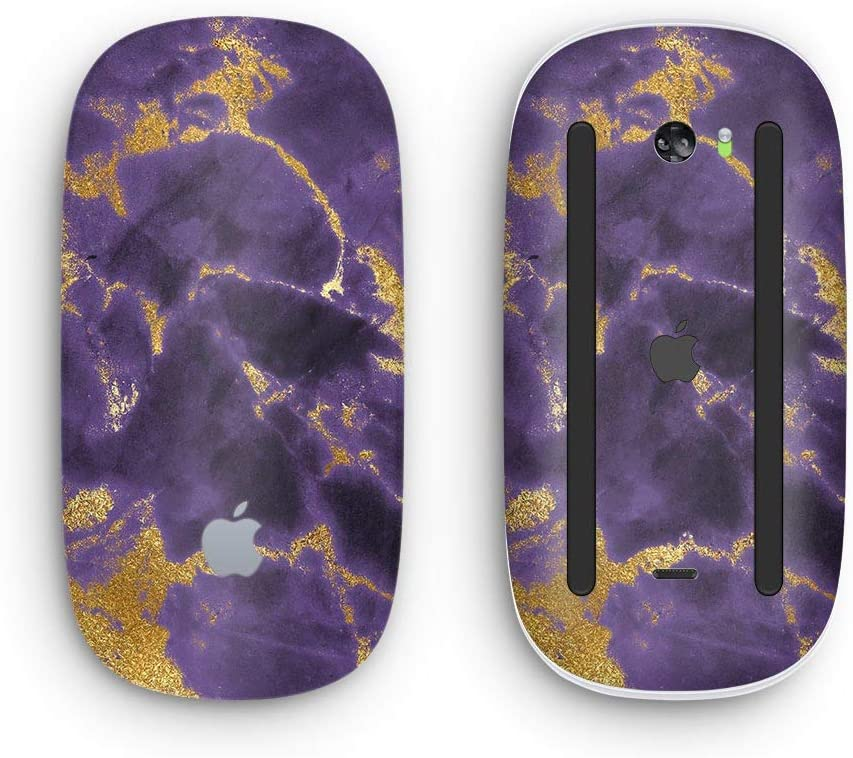 Purple Marble /& Digital Gold Foil V3 2 with Multi-Touch Surface Wireless, Rechargable Design Skinz Premium Vinyl Decal for The Apple Magic Mouse 2
