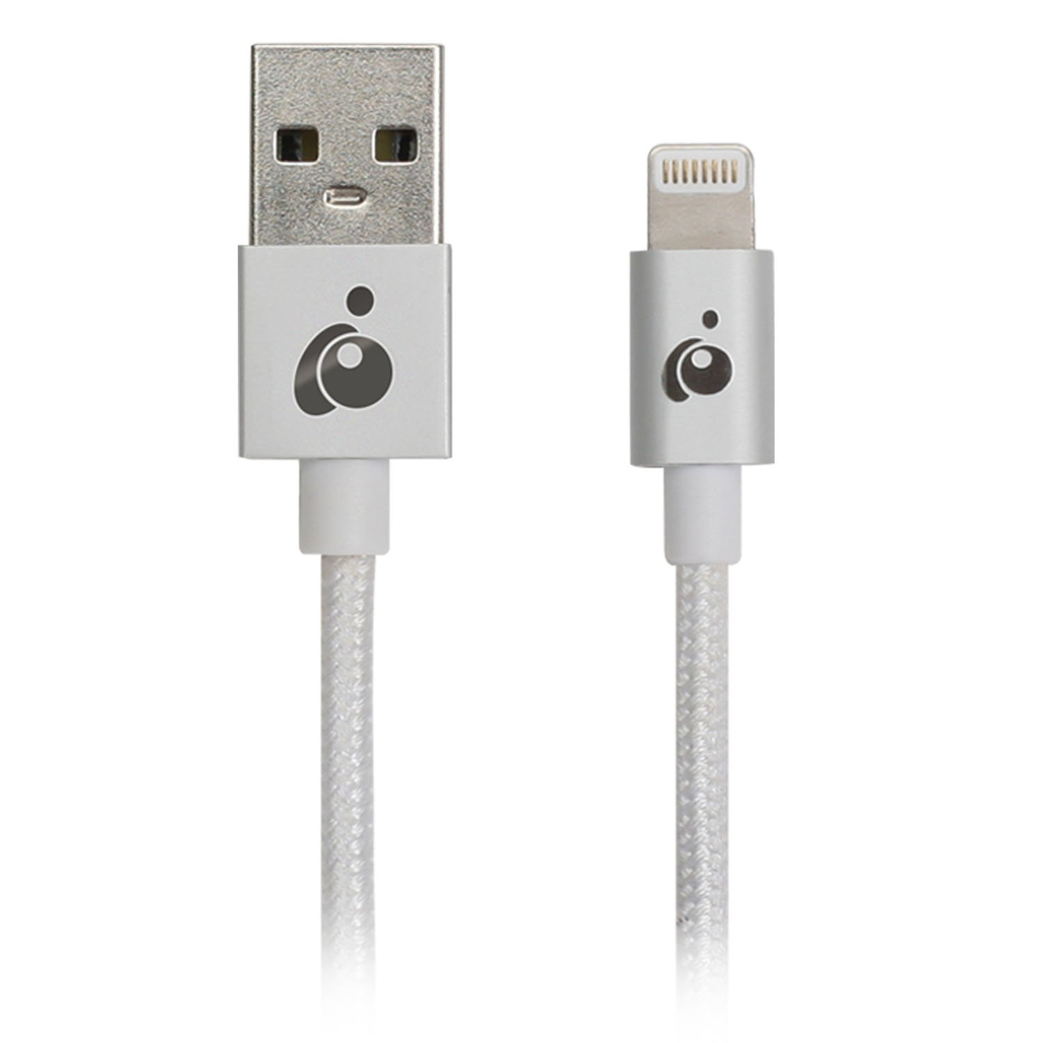 iogear GAUL01-SILIOGEAR Charge & Sync Flip Pro + Apple MFI Certified Lightning to Reversible USB Cable for iPad/iPhone/iPod, 1 Meter/3.3 Feet, Silver