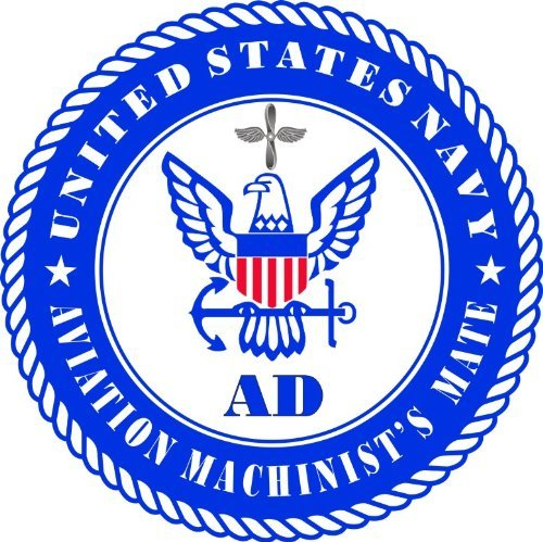 Machinists Mate - MAGNET US Navy Aviation Machinist's Mate Rating Decal Magnetic Sticker 3.8