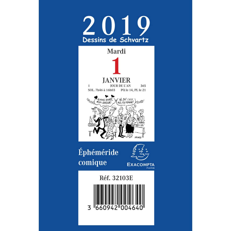 Exacompta 32103e Bloc Comique Pour Ephemeride Annee 2019 Amazon Fr