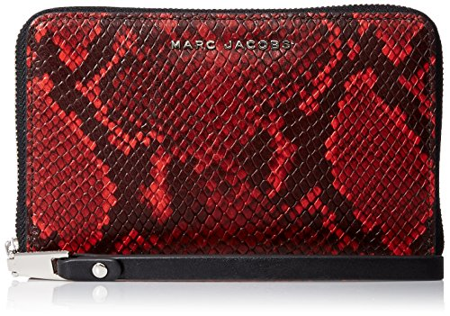Marc Jacobs Block Letter Snake Zip Phone Wristlet, Red Snake Multi, One Size by Marc Jacobs
