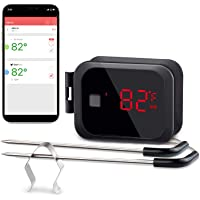 Inkbird IBT-2X Digital BBQ Grill Bluetooth Smoker Thermometer, 150 feet Wireless Cooking Meat Thermometer with Timer and…