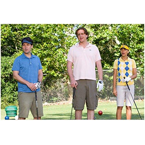 I Love You, Man 3 8 inch x 10 inch PHOTOGRAPH Jason Segel White Polo Shirt, Paul Rudd Blue Polo Shirt & Rashida Jones Argyle Sweater Staring in Disbelief kn