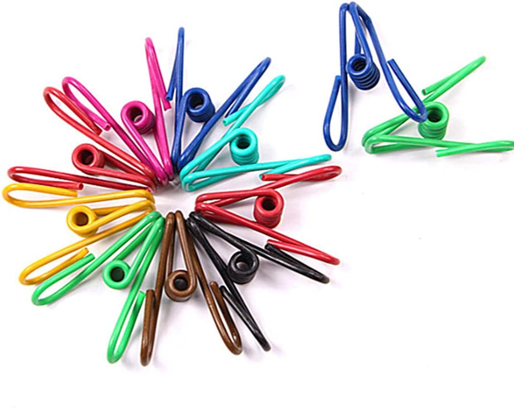 50pcs Steel Wire Clip,Colorful Vinyl-Coated Windproof Clothespin(Mixed Colors) by Alimitopia