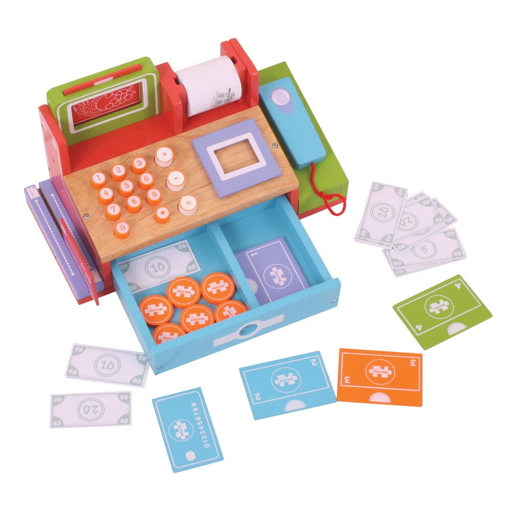 Bigjigs Shop Till, cassa per giocattolo, bibj452