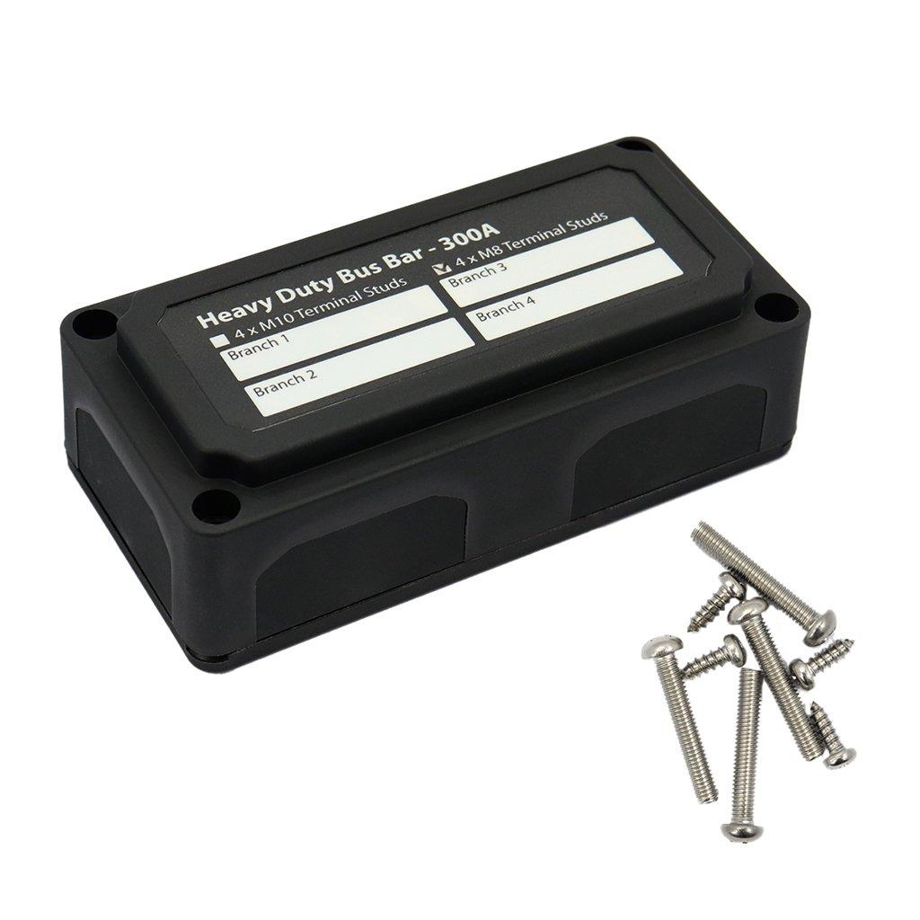 300A Homyl 1 St/ück Verteilerbox H/öchste Stromschiene mit M8-Anschlussbolzen Verteilerblock-Verteilerleiste
