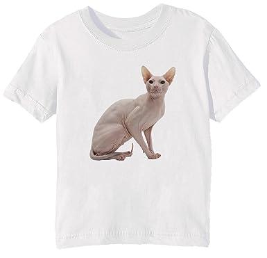 Sphynx Gato Raza Niños Unisexo Niño Niña Camiseta Cuello Redondo ...