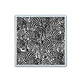Contact Lens Box Holder Container Case Storage Eyecare Kit -Black Zebra Print