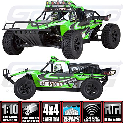 - Redcat Racing Sandstorm Baja Electric Buggy, Green, 1/10 Scale