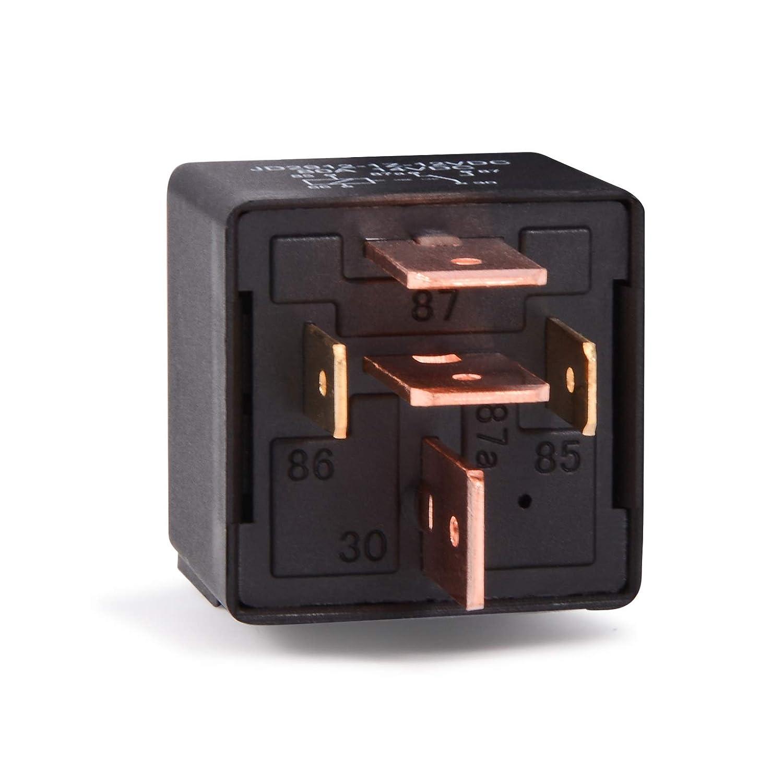 FOSHIO Rel/è di Modifica della Parte di carico per carichi Pesanti 24VDC Rel/è 80Amp SPDT con Attacco a 5 Pin e cablaggi Accessori
