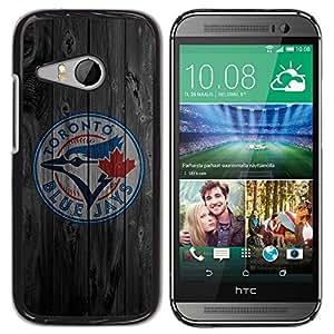 Design for Girls Plastic Cover Case FOR HTC ONE MINI 2 / M8 MINI Toronto Blue Jay Baseball OBBA