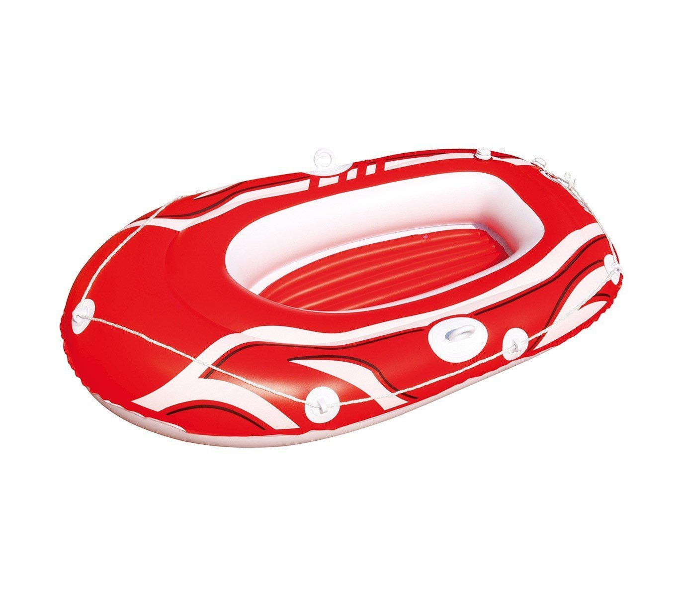 61050 Bestway Bote inflable en 3 colores 155 x 93 cm para niños y adultos - Rojo