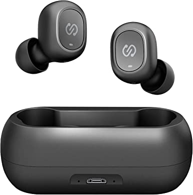 SoundPEATS TrueFree True Wireless Earbuds Bluetooth 5.0 in-Ear Stereo Bluetooth Headphones with Microphone Wireless Earphones 15 Hours Playtime, Hands-Free Calls, One-Step Pairing