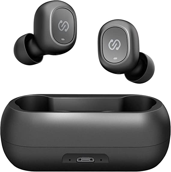Amazon Com Soundpeats Truefree True Wireless Earbuds Bluetooth 5 0 In Ear Stereo Bluetooth Headphones With Microphone Wireless Earphones 15 Hours Playtime Hands Free Calls One Step Pairing