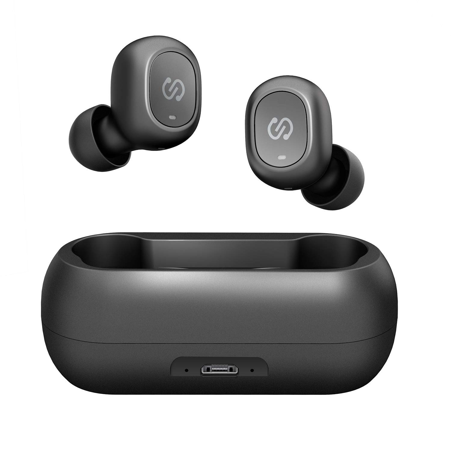 SoundPEATS True Wireless Bluetooth Earbuds in-Ear Stereo Bluetooth Headphones Wireless Earphones (Bluetooth 5.0, Built-in Mic, Stereo Calls, Total 15 Hours Playtime)