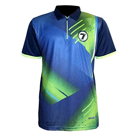 amp; Outdoor T-shirt Sports in blue-green Amazon Outdoors Sports Printed Polyester Men's Fitness