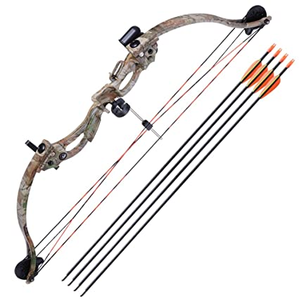 amazon com aw 34 junior compound bow kit w 4pcs 28 arrow set