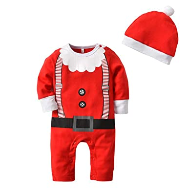 Baby Boys Christmas Outfit Set Funny Cute Santa Claus Costume Newborn  Romper Hat Clothes Set 6 - Amazon.com: Baby Boys Christmas Outfit Set Funny Cute Santa Claus