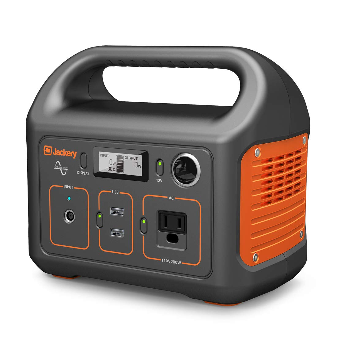 Jackery Portable Power Station Explorer 240, 240Wh Backup Lithium Battery, 110V/200W Pure Sine Wave AC