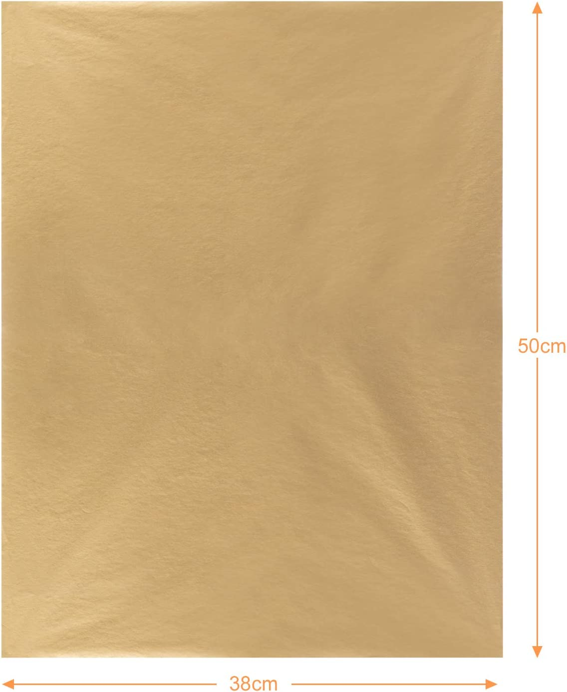 Naler 60 Sheets Gold Tissue Paper Gift Wrap Paper for DIY Crafts Birthday Wedding Party Christmas Decoration 15 x 20 Inches