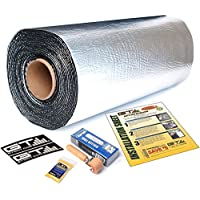 10 sqft GTmat Supreme 110mil Roll (18in x 68) Automotive Audio Sound Deadener Deadening Noise Dampener with Genuine Dynamat Roller