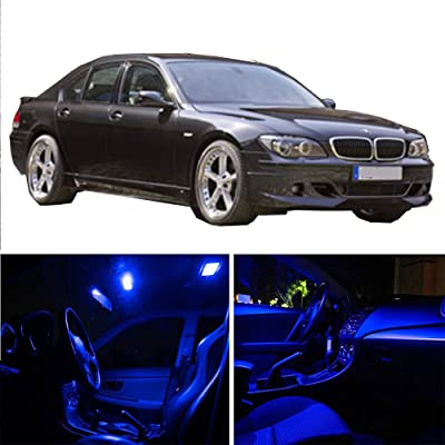 cciyu Replacement fit for BMW 7 Series E65 E66 750li 2003-2008 Package Kit Blue LED Interior Light Accessories Replacement Parts 18 Pcs: Automotive