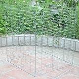 groß 458 Liter Metall Drahtgitter Kompost Abfalleimer ECO Garten Komposter Konverter ECO Recycling Erde Aufbewahren Abfalleimer Abfall Box