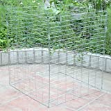 Sohler By Eurotrade W 2002963 Large 458 Litre Metal Wire Mesh Garden Composter Converter Eco Recycling Soil Storage Bin Waste Box, Multicolour, 71 x 71 x 91 cm