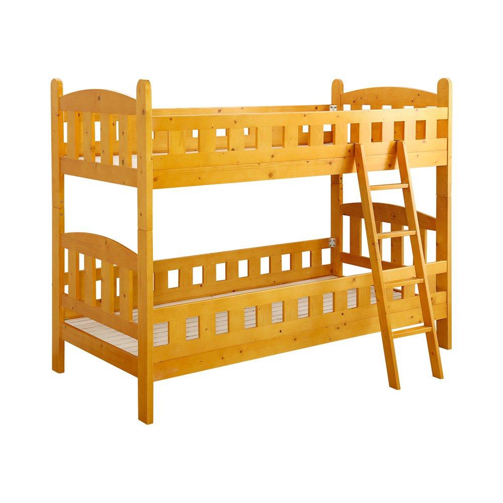 子供部屋 二段ベッド ライトブラウン(すのこ安心設計耐震機能分割可能) B01MR7MIVB ライトブラウン ライトブラウン