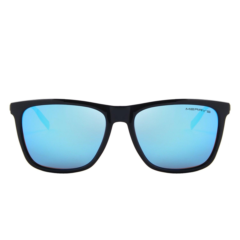 MERRY'S Unisex Polarized Aluminum Sunglasses Vintage Sun Glasses For Men/Women S8286 (Blue, 56) by MERRY'S (Image #2)