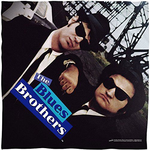[Trevco UNI827 BLUES BROTHERS/POSTER-BANDANA -WHITE-ONE SIZE] (Blues Brothers Hat)