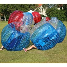 BubbleU24(TM) 4 Bubble Balls Package for Body Zorb Zorbing Inflatable Human Knocker Ball Bubble Soccer Football Game With 1 Free Pump