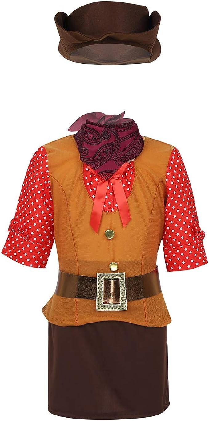 Agoky Disfraz de Vaquera Oeste para Niña Cosplay Traje de Cowgirl ...