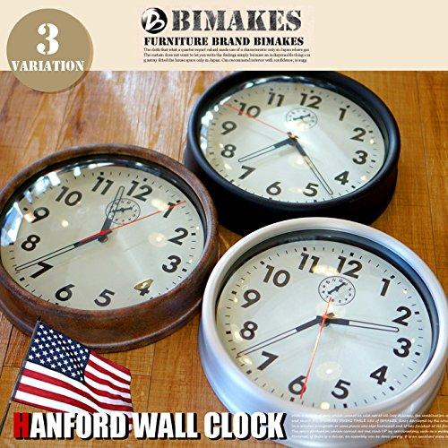 ハンフォードウォールクロック 掛時計 BIMAKES 全3色 RustSteel B00SGZPWEA RustSteel RustSteel