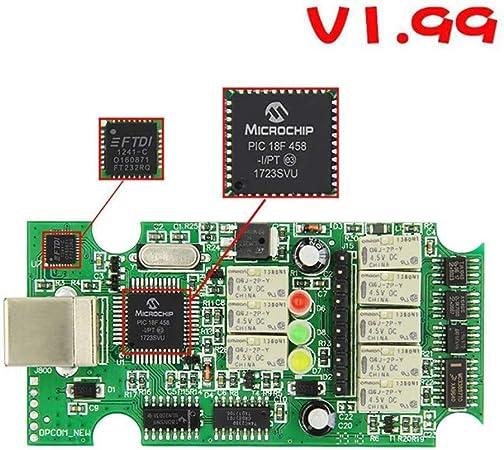 SPRIS OPCOM 2014V V1.99 Herramienta de diagn/óstico con Chip PIC18F458 Ser aplicable Instrumento de diagn/óstico de fallas automotrices