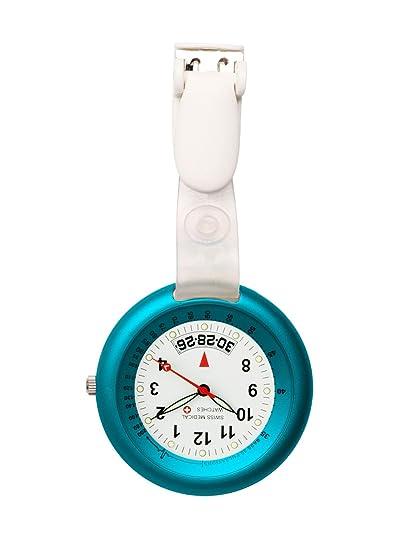 Reloj Swiss profesional de la medicina línea luz azul + grabado gratis.: Amazon.es: Relojes
