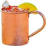 100% Copper Mug for Moscow Mule - Solid Pure Copper 16oz - BONUS Recipe Cards Included!