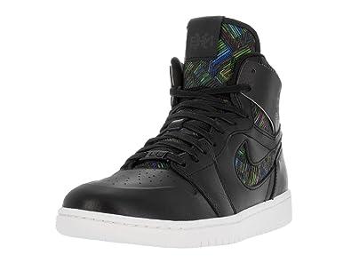 los angeles 5246b ad5fc Nike Mens Air Jordan 1 Ret High Nouv BHM Black White-Voltage Green Leather