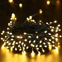 Elegear Luci Natale Esterno 40M 300 LEDs Impermeabile Luci Natale Batteria con 8 Modalità Illuminazione, Decorazione per Natale, Giardino, Patio, Albero di Natale - Bianco Caldo