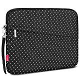 NiceEbag 13-13.3 Inch Laptop Sleeve Case Slim Protective Bag Water-Resistant Cover For Notebook / Macbook / Surface / Chromebook / Acer/Asus / Dell / iPad Pro / Ultrabook - White Dots