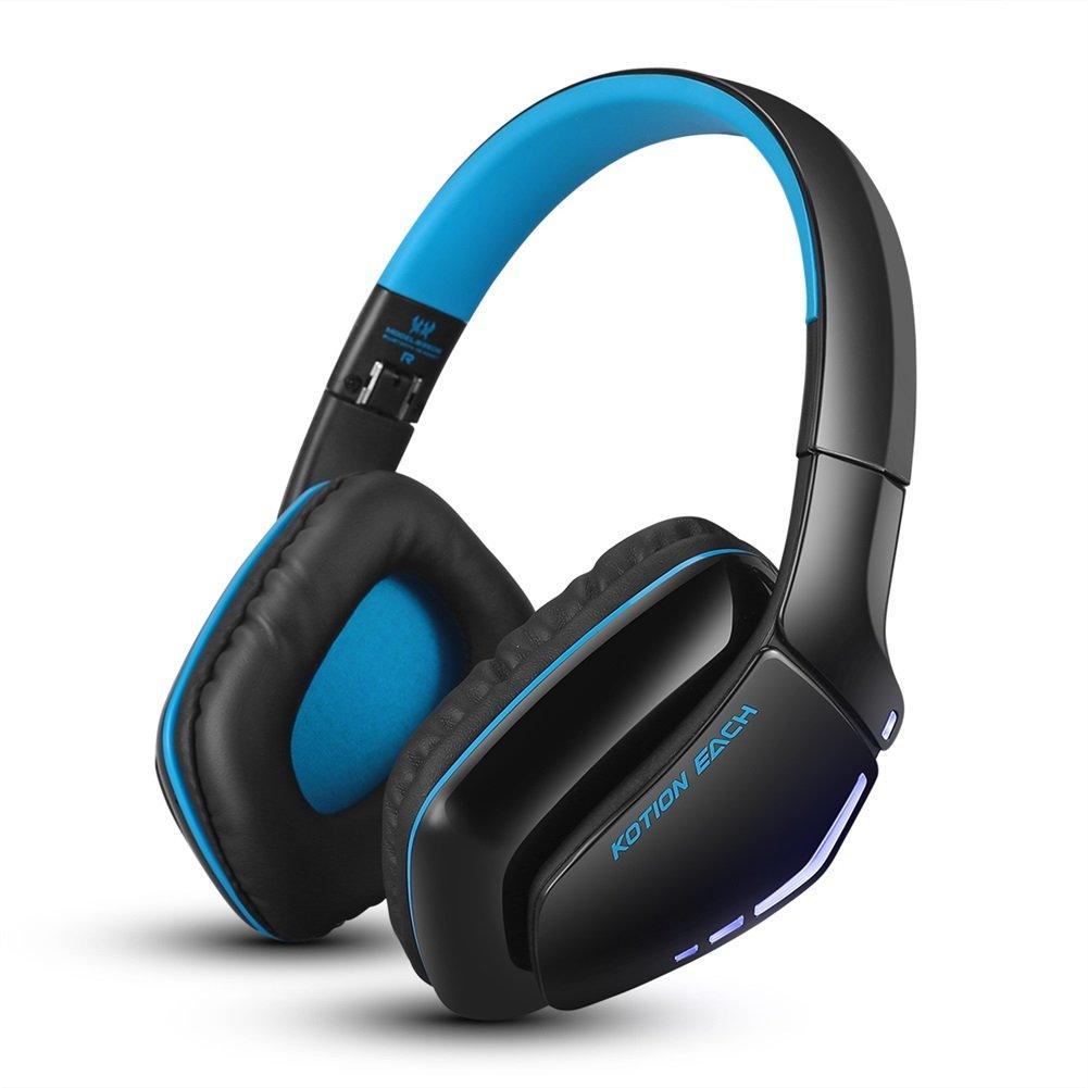 Cuffie Gaming, Ripiegabile Gioco Cuffia Senza Fili Bluetooth Isolamento del Rumore con Microfono per PS4 PC Mac Computers Smartphones (Nero&blu) DIDIFU B3506