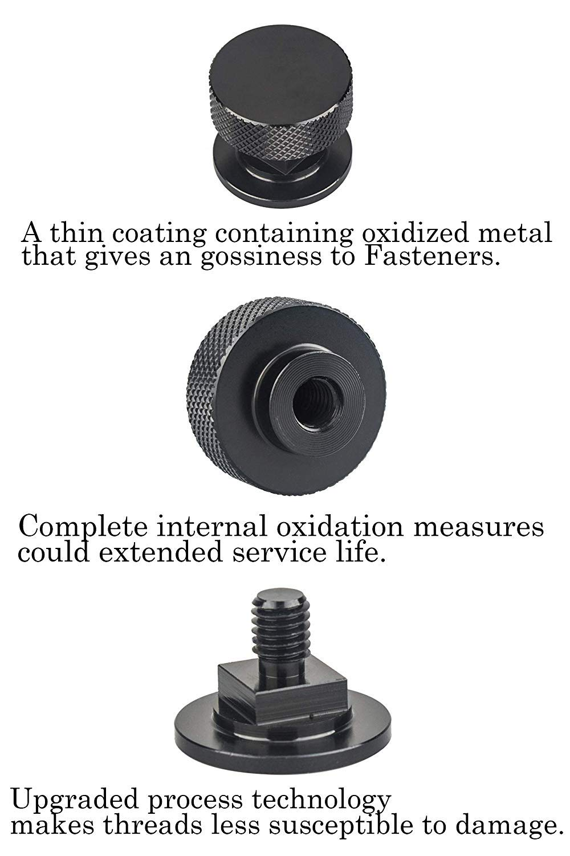 3mirrors Welding Hood (Pipeliner) Helmet Fasteners Aluminum - 1 Pair (Black Anodized Knurled) by 3mirrors (Image #8)