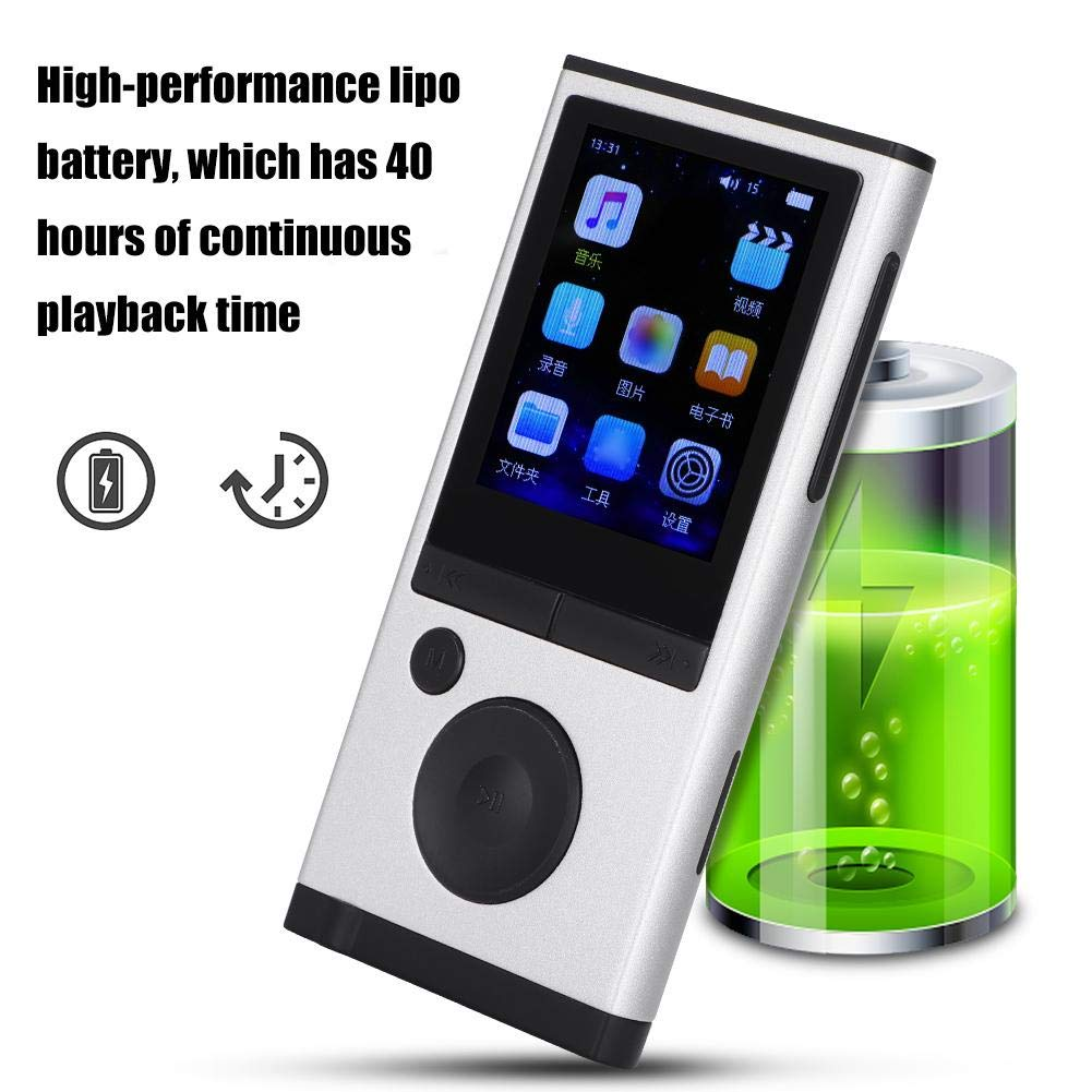 MP3 Player, 1.8 inch TFT Portable HiFi Digital Music Audio MP3 Player Support FM Radio, Voice Recording, 32GB TF Card with Earphone Wearable Music Player for Sports, Travel, etc. by Ciglow (Image #5)