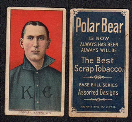 1909 t206 tobacco baseball card 29 jake beckley of the kansas 1909 t206 tobacco baseball card 29 jake beckley of the kansas city vg sciox Gallery