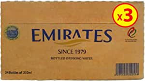 Emirates Drinking Water 330ml, Pack of 3 x 24 (72 Bottles)