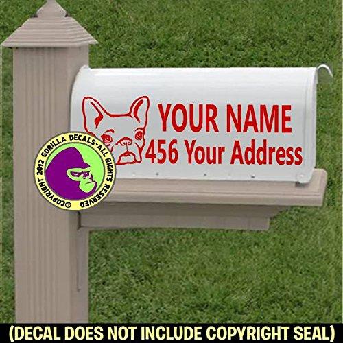 Vinyl Decal Sticker C CUSTOM ADDRESS FRENCH BULLDOG Dog Breed MAILBOX Set