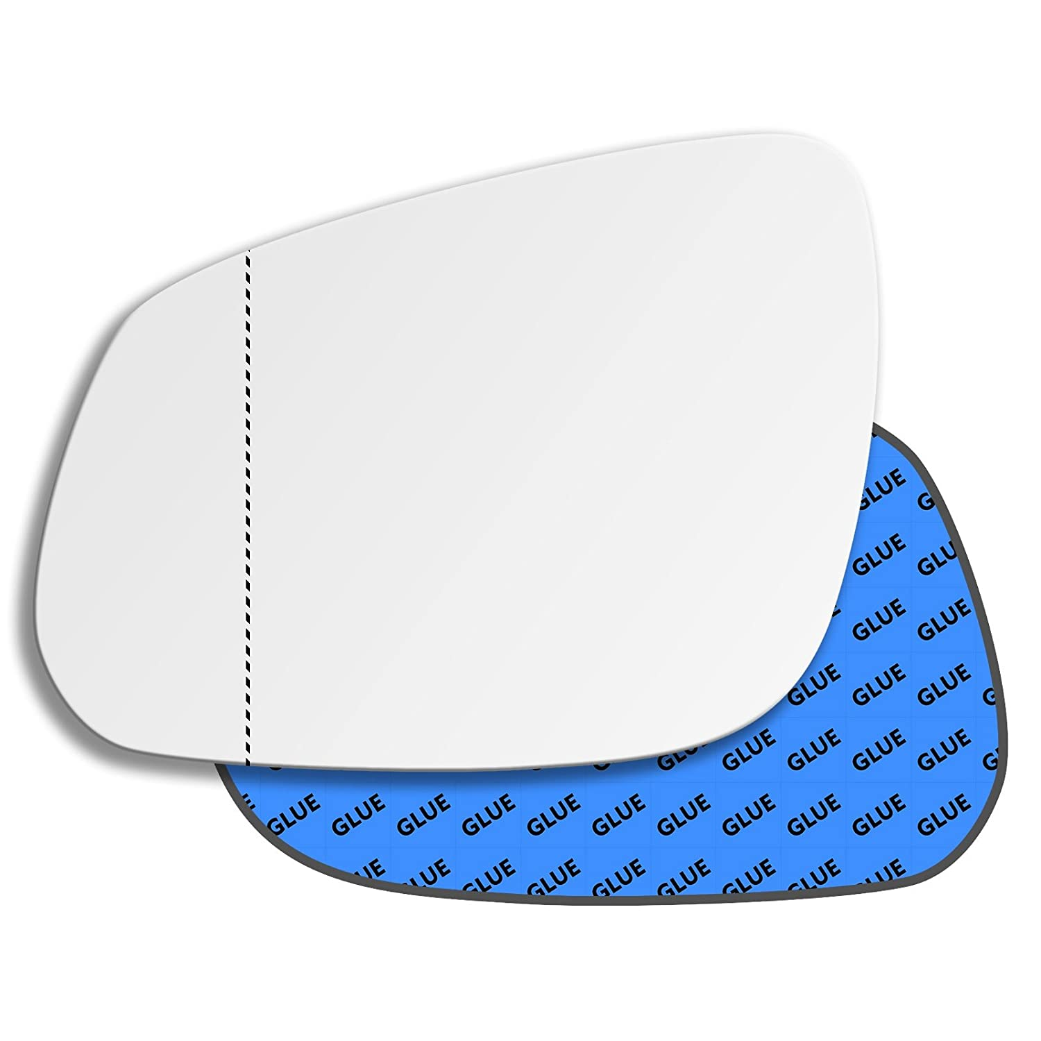 Hightecpl 811LAS Left Hand Passenger Near Side Wide Angle Door Wing Mirror Glass Replacement