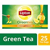 Lipton Honey Lemon Green Tea Bags, 25 Tea Bags